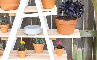 diy ladder plant stand