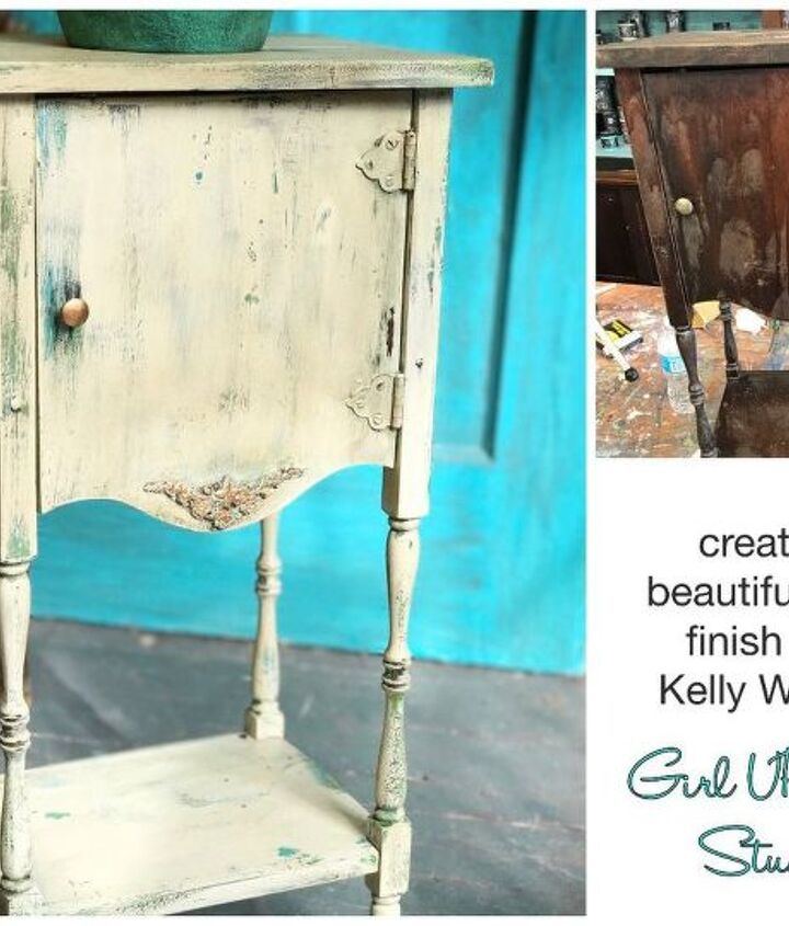 Girl UPcycled teaches a unique paint finish