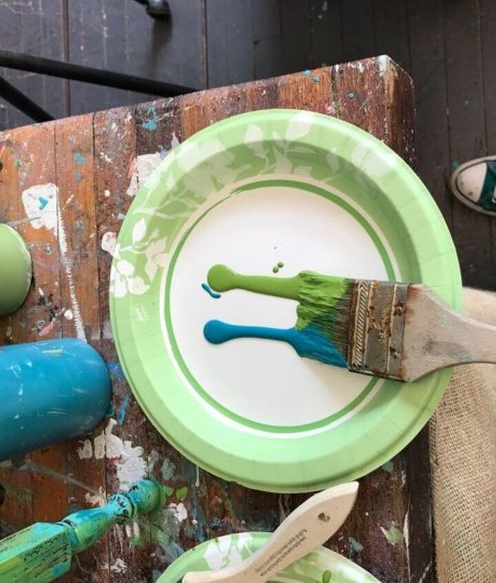 a very unique furniture paint application and technique