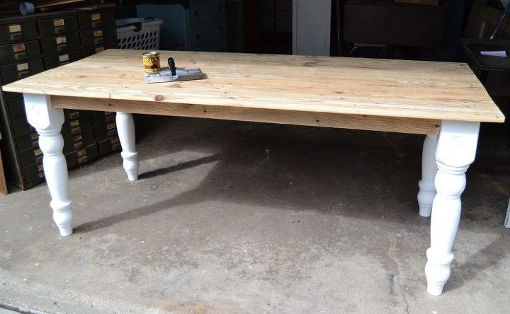 dumpster dive produces diy farmhouse table