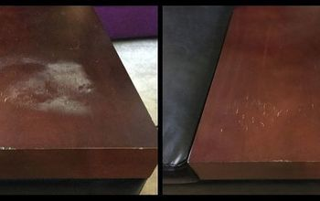 quickly remove heat stains from wood