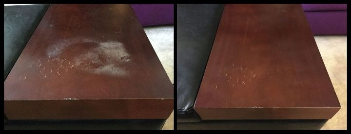 Quickly Remove Heat Stains From Wood Hometalk - How To Remove Heat Marks From Wooden Table With Iron