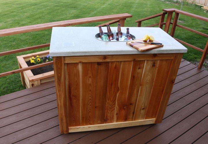 how to make a patio party bar diy