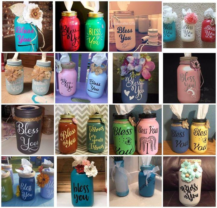 Diy Mason Jar Tissue Holders Hometalk