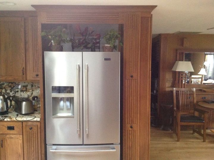 Camouflage Space Around New Refrigerator Was A Large Built In