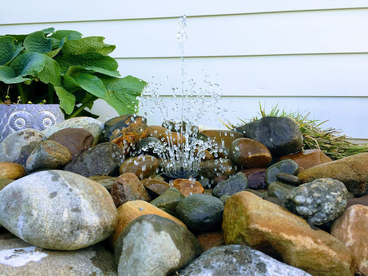 one of the easiest and coolest diy water features