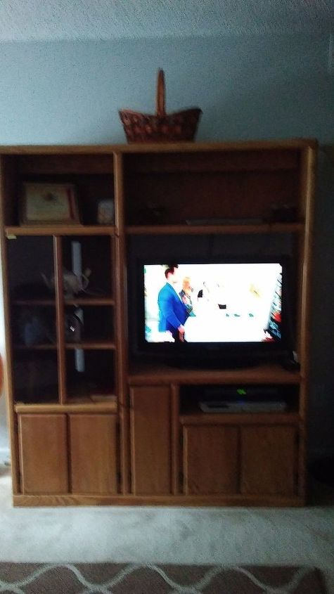 q my entertainment center is is too tall can i make it shorter