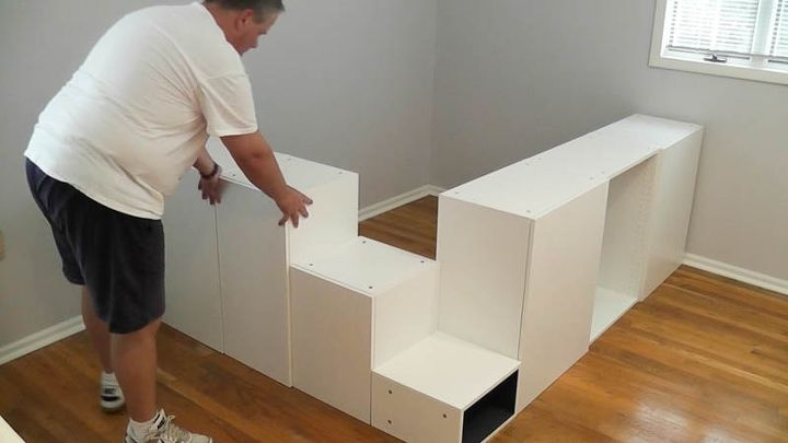 ikea hack platform bed diy hometalk. Black Bedroom Furniture Sets. Home Design Ideas