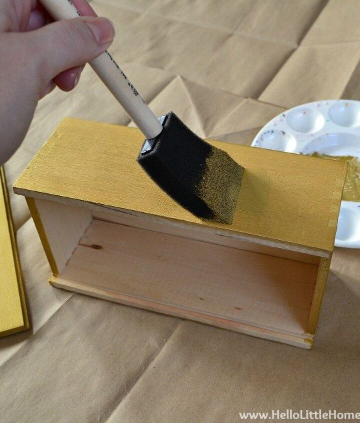 diy faux inlay box