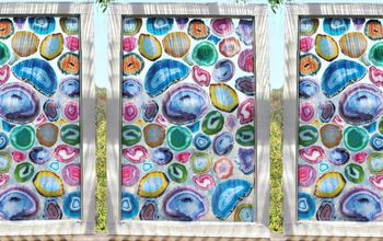 geode diy faux agate stained glass