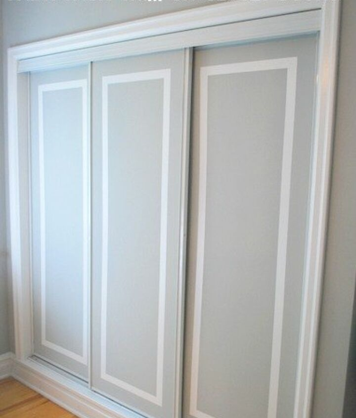 s get the vogue closet of your dreams with these 15 inspirations, Get A Fabulous Faux Trim On Your Doors