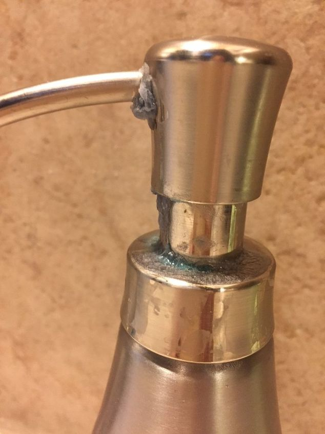 q any ideas on getting a pump soap dispenser to not leak