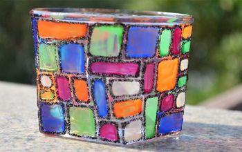 DIY CANDLE HOLDER Inspired by Mosaic Art!!