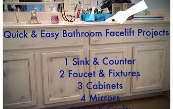 6 Quick Fix-Facelift Ideas for Builder Grade Bathrooms ALL Under $120