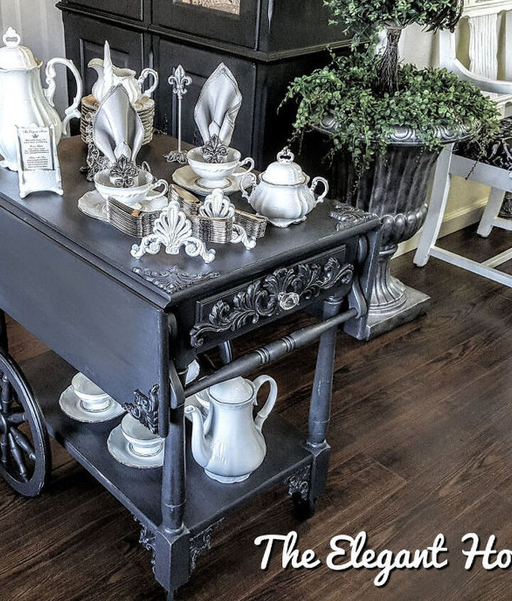 vintage tea cart redone