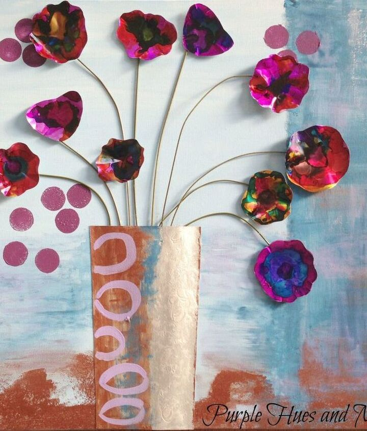 s save your old cans for these 30 home decor ideas, Paint them into gorgeous watercolor flowers