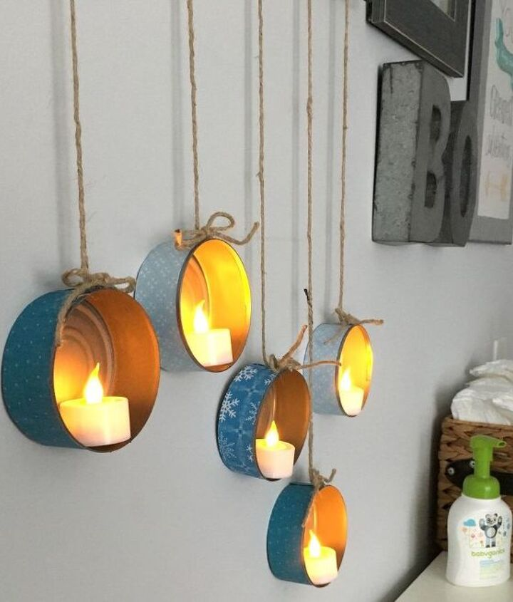 s save your old cans for these 30 home decor ideas, Make a great low budget decor