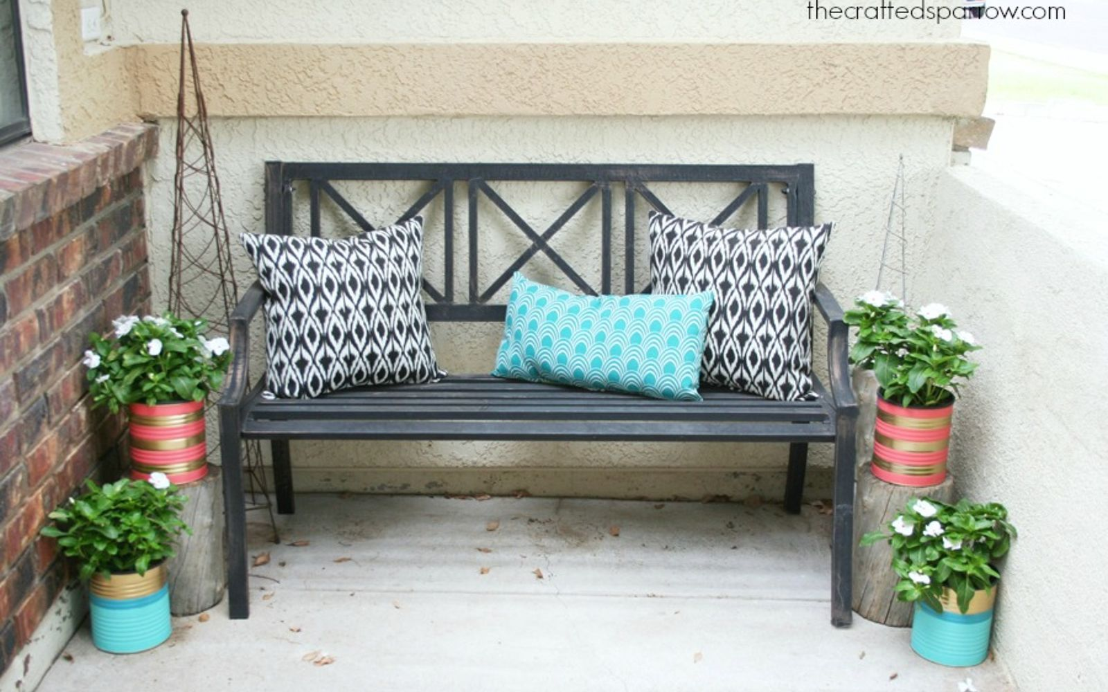 s save your old cans for these 30 home decor ideas, Paint some large porch planters