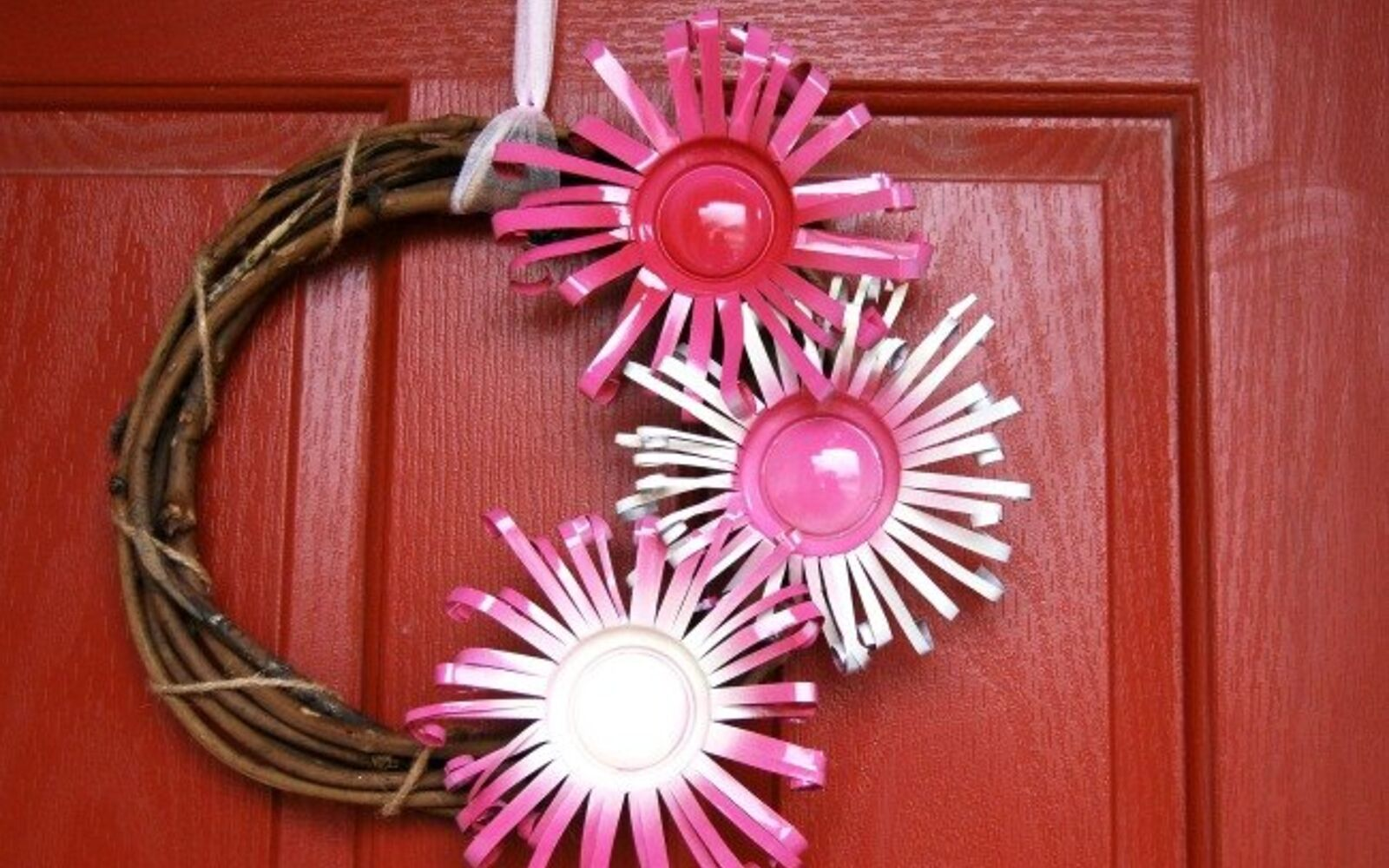 s save your old cans for these 30 home decor ideas, Cut them into wreath flowers