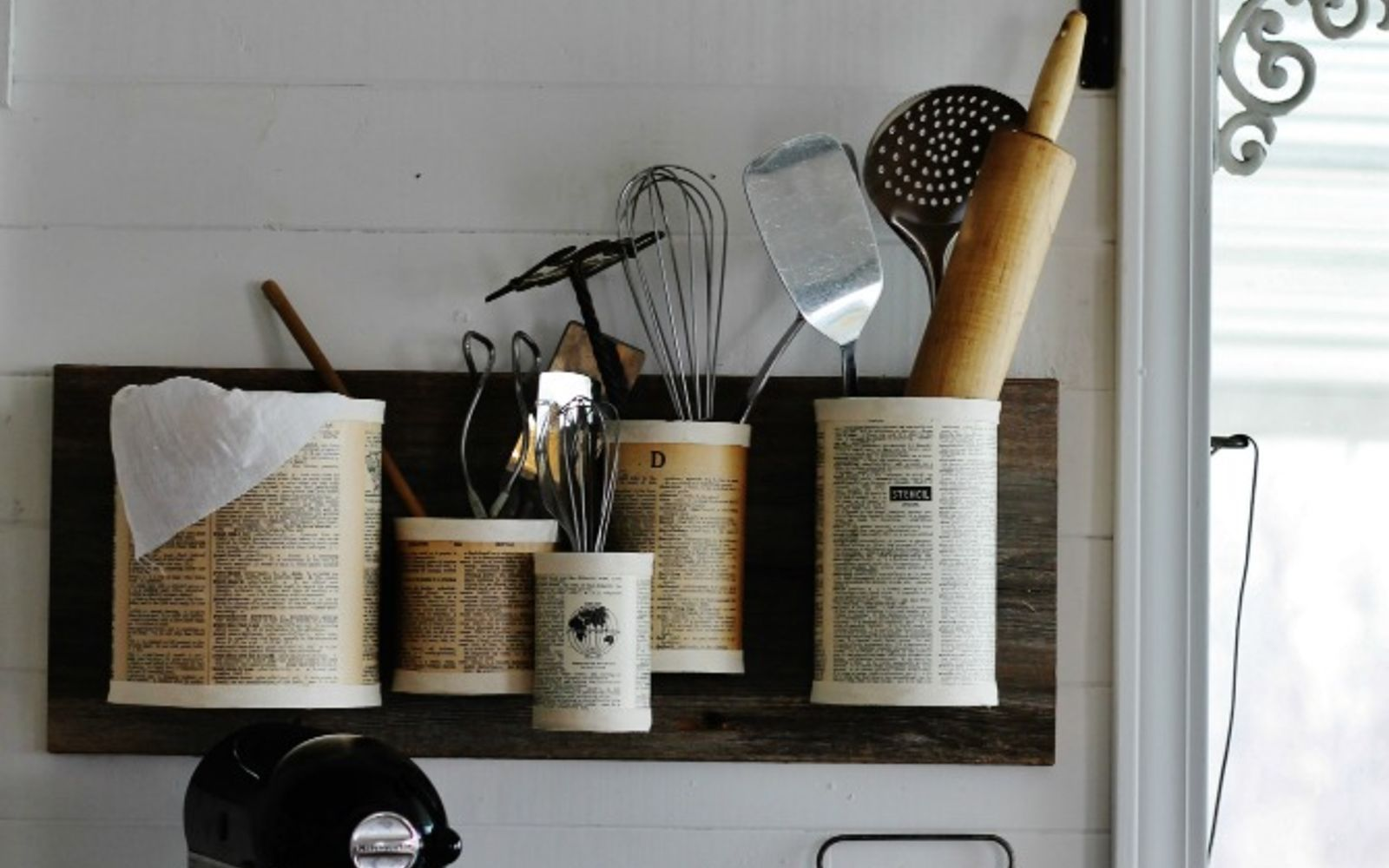 s save your old cans for these 30 home decor ideas, Pin some up on the wall as an organizer