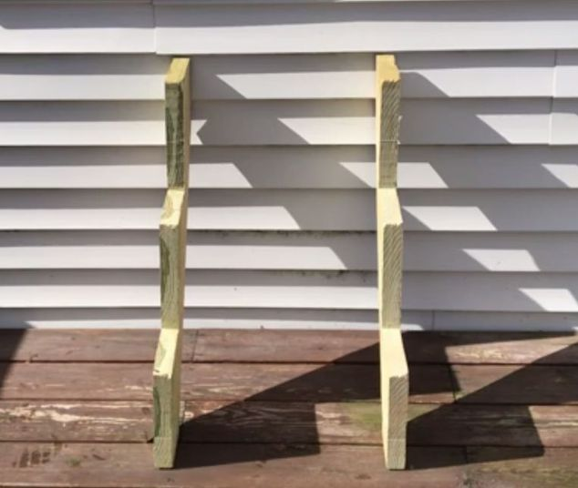 drag stair risers outside for a super smart garden idea