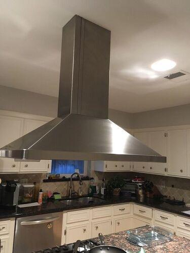 How do I raise a stove vent hood that drops down too low?   Hometalk