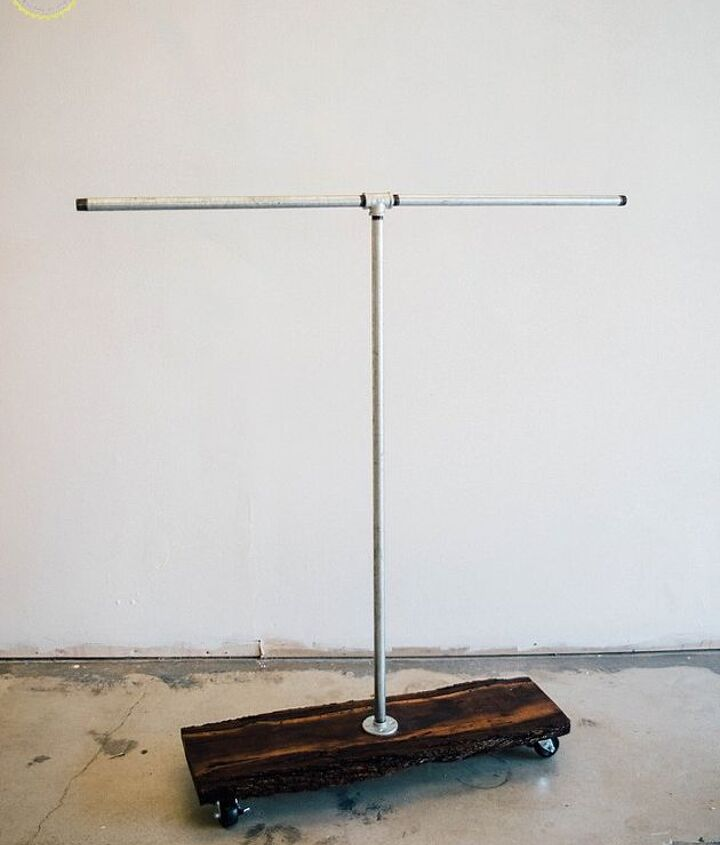 s 30 genius ways to make the most of your closet space, Make your own pipe clothing rack