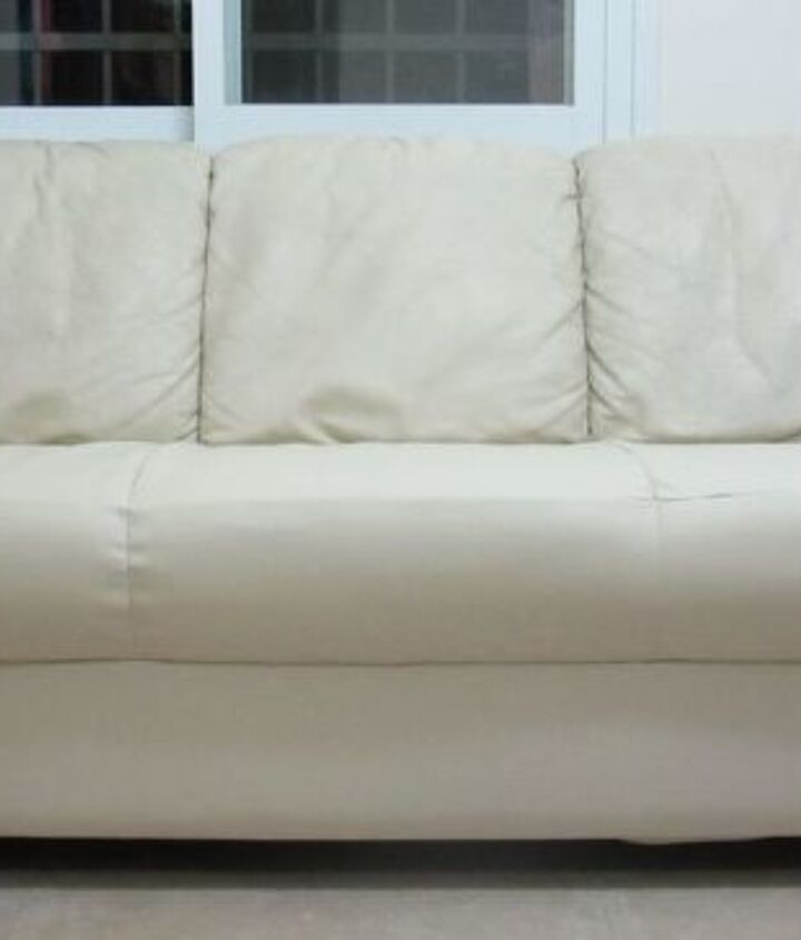 s hide your couch s wear and tear with these great ideas, Reupholstered Torn Couch