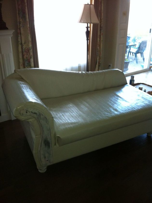 s hide your couch s wear and tear with these great ideas, Fainting couch revival