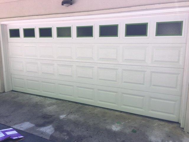 garage door diy makeover white fiberglass to wood
