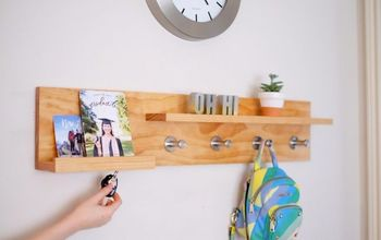 DIY Coat Rack (with Magnets!)