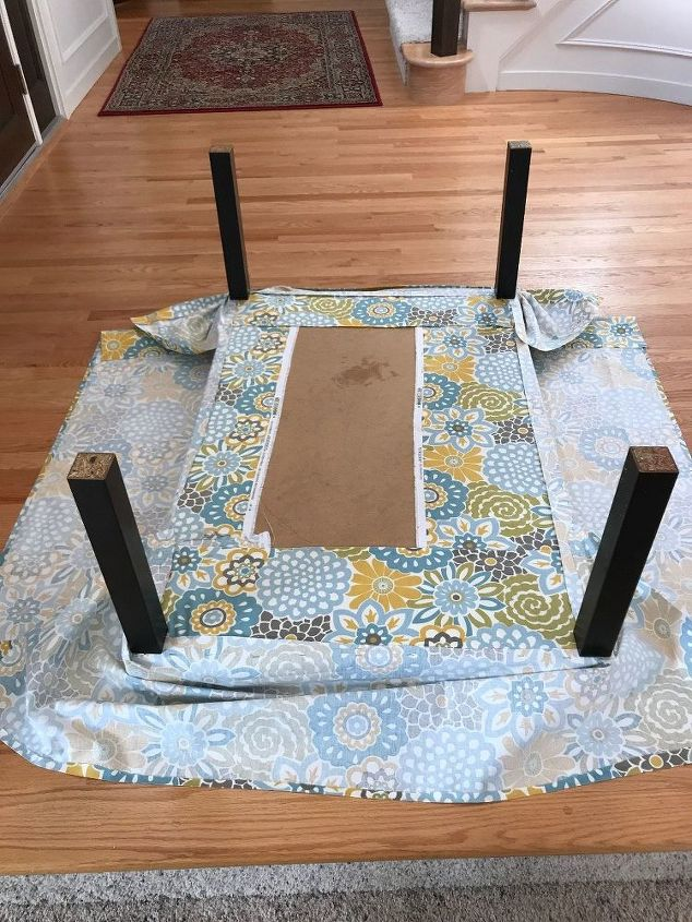 no sew ottoman from broken coffee table