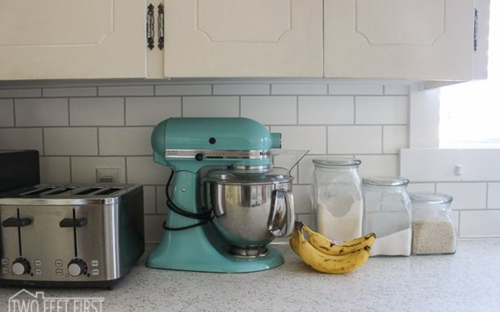 s 31 update ideas to make your kitchen look fabulous, Or imitate subway tile with paint