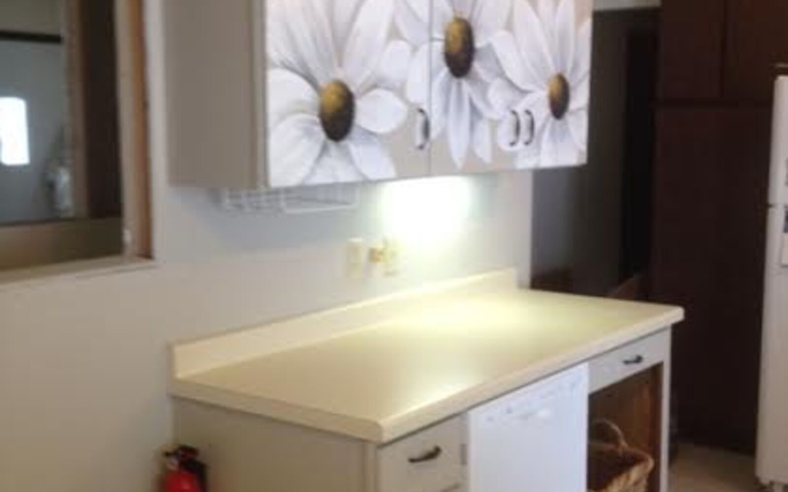 s 31 update ideas to make your kitchen look fabulous, Or add some art to your cabinets