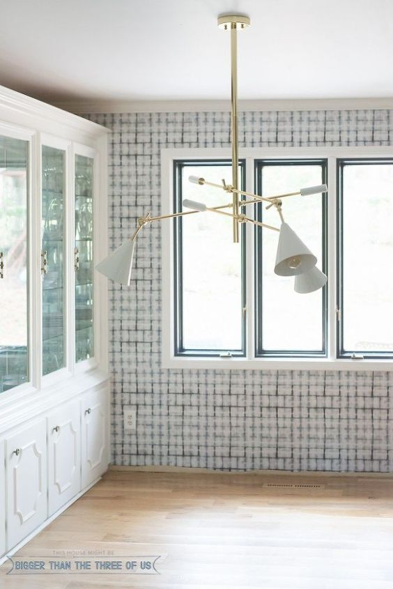 s 31 update ideas to make your kitchen look fabulous, Install some wallpaper to transform the room
