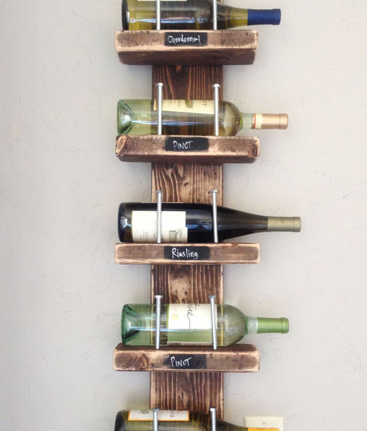 s 31 update ideas to make your kitchen look fabulous, Add some style with a funky wine rack