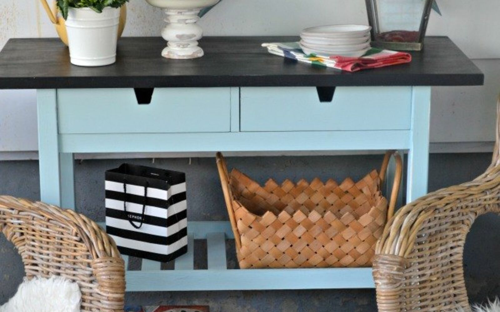 s 31 update ideas to make your kitchen look fabulous, Or add a small portable kitchen island