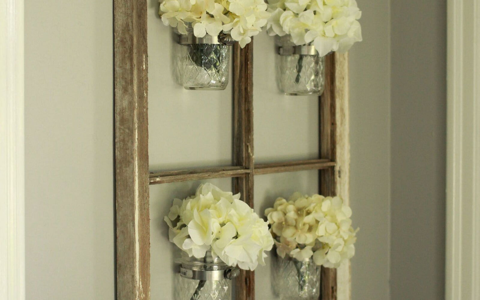 s 31 update ideas to make your kitchen look fabulous, Create a rustic chic mason jar wall art