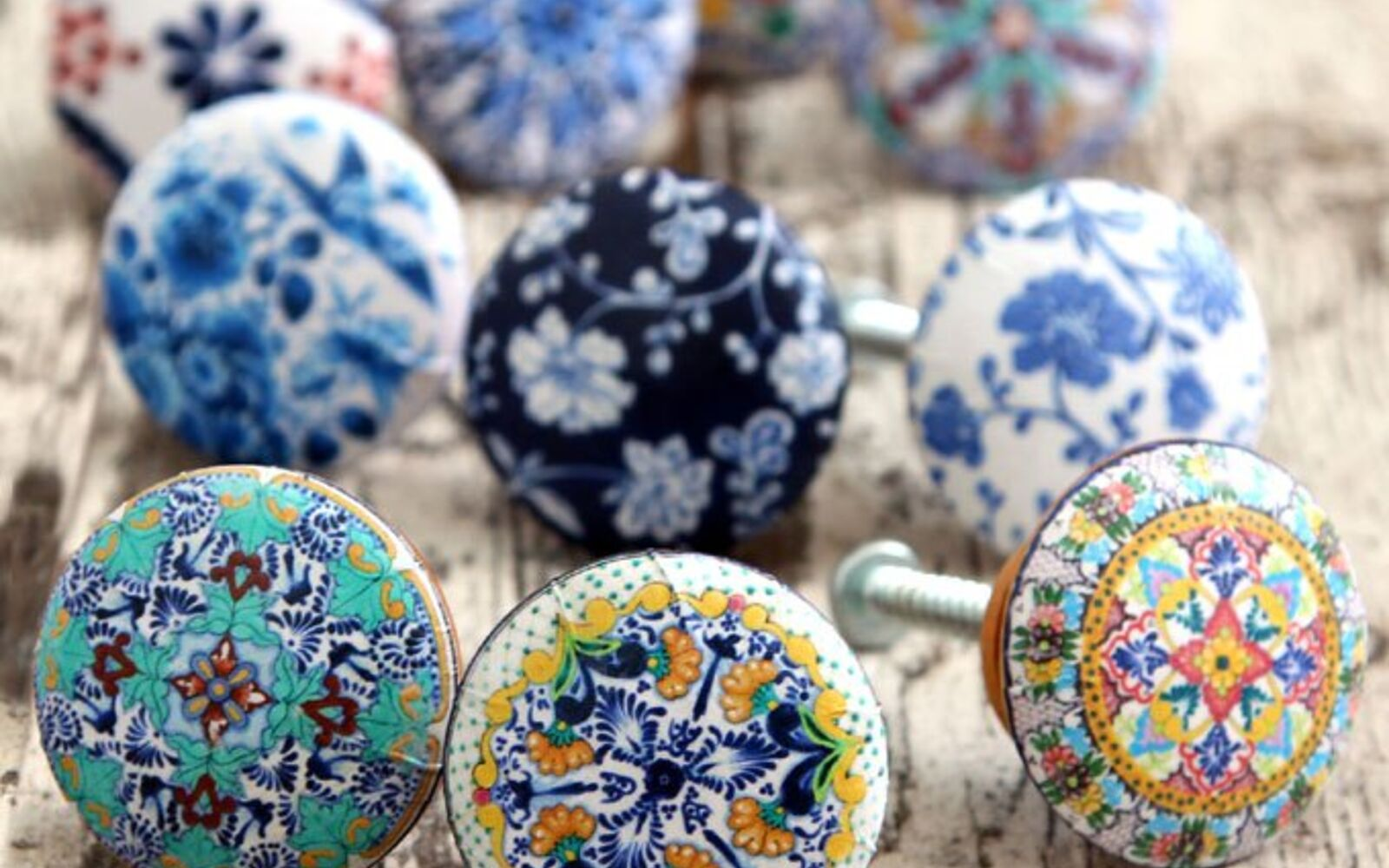 s 31 update ideas to make your kitchen look fabulous, Dress up your knobs with pretty patterns