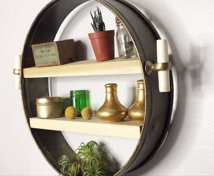 s 30 creative ways to repurpose baking pans, Make an Anthropologie knockoff shelf
