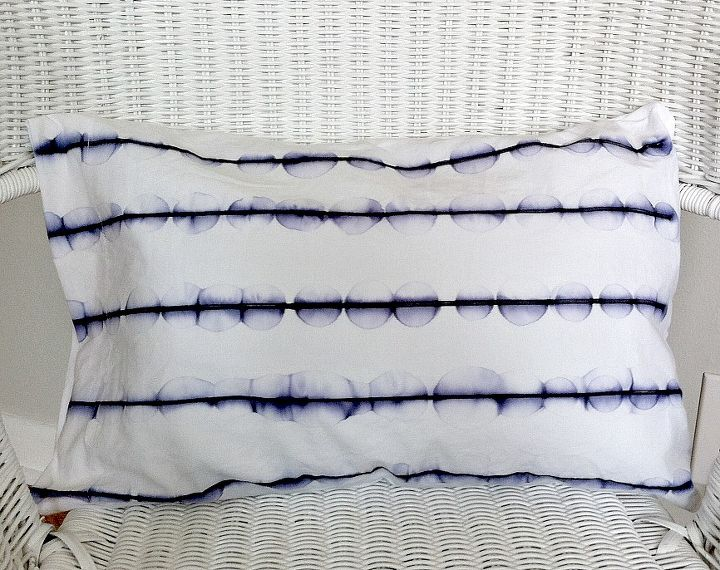 s check out these 30 incredible sharpie makeovers, Adorable patterend pillowcase