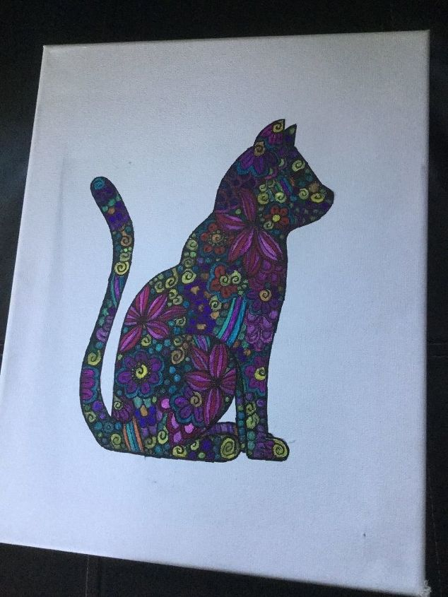 q i did this cat how should i do the background