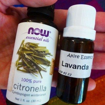 natural mosquito spray with citronella essential oil