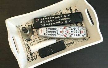 diy remote control tray to organize the living room