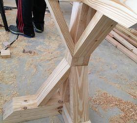 DIY LShaped Farmhouse Wood Desk Office Makeover Hometalk