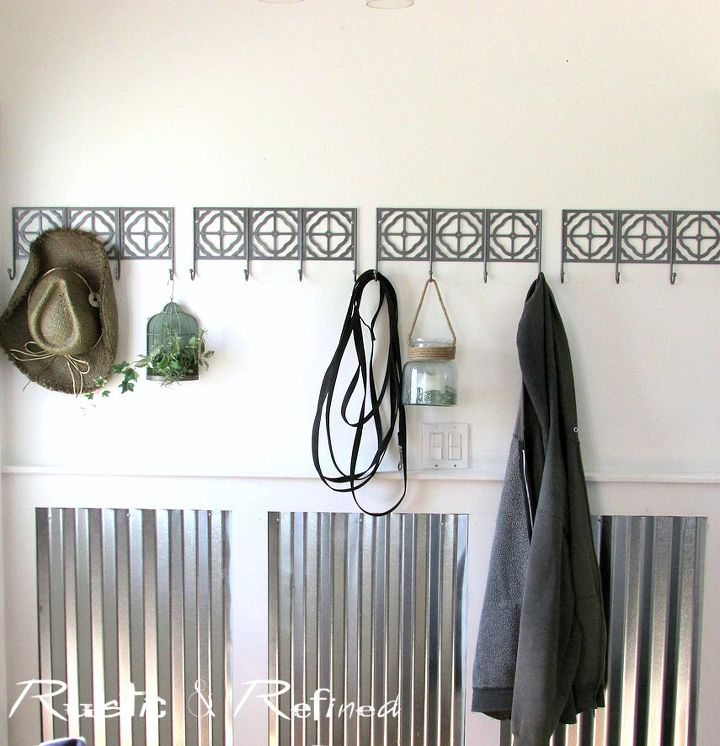s beautify your entryway without breaking the bank, Industrial Wainscotting For A Modern Look