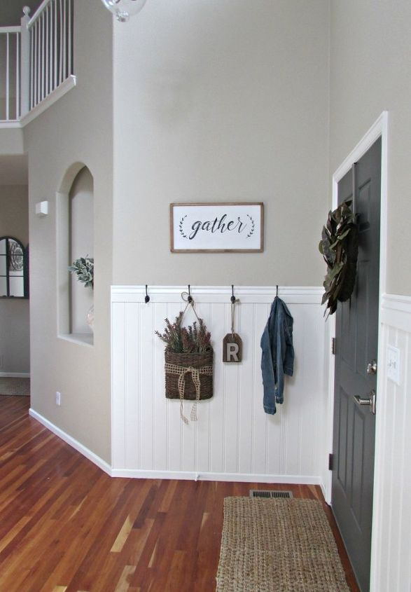 s beautify your entryway without breaking the bank, Construct Inexpensive Beadboards