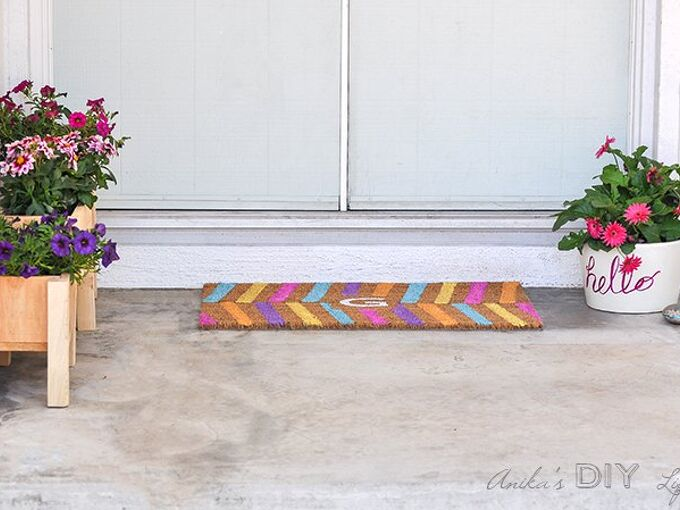 easy diy personalized doormat