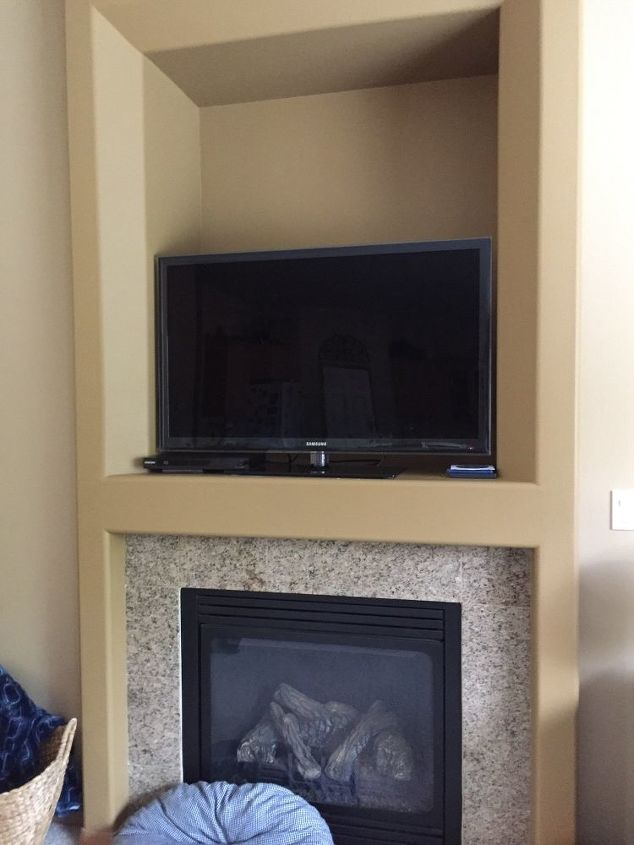 q what is the best way to deal with an tv hole above fire place