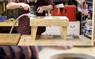pallet wood dog bowl stand